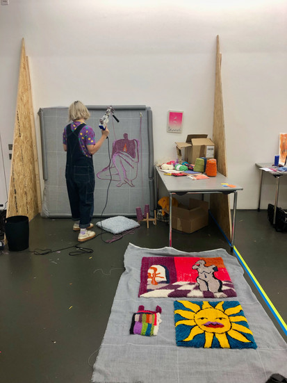 Temporary Studio Space in the Towner Gallery