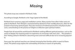 Missing, statement