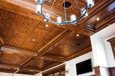 tin ceiling, acoustical ceiling
