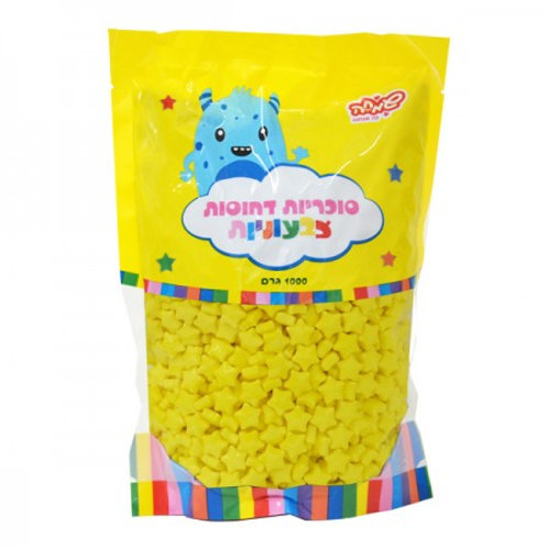 סוכריות כוכבים לקישוט-צהוב