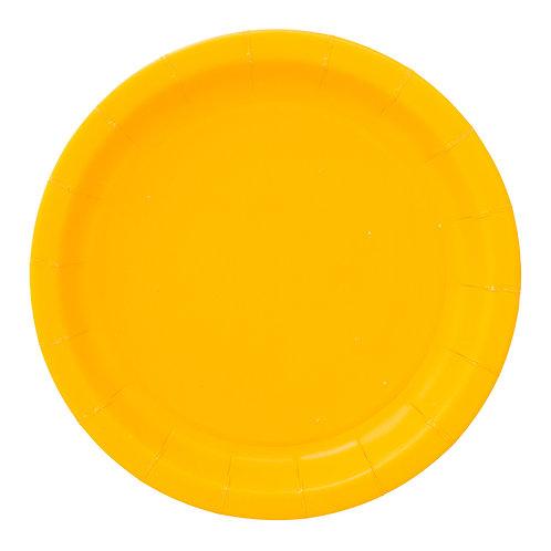 צלחות צהובות
