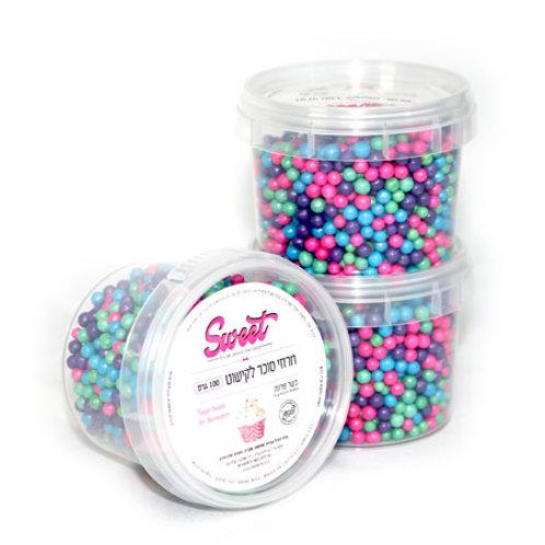 סוכריות עגולות צבעוניות