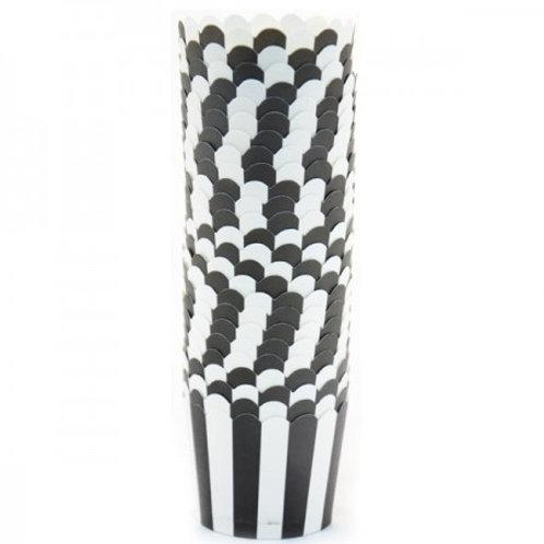 כוסות אפייה שחור לבן