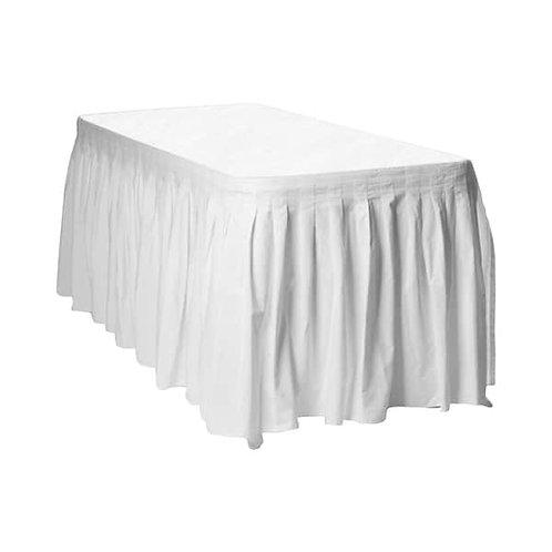 חצאית לבנה לשולחן
