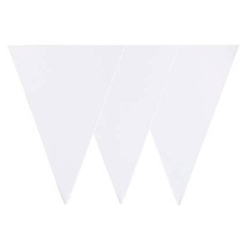 שרשרת דגלים לבנה