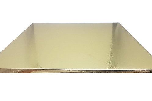 תחתית מרובעת לעוגה כסף\זהב