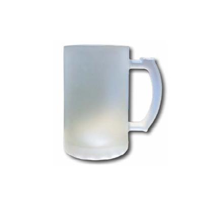 ספל בירה זכוכית חלבית