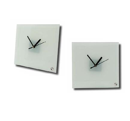 שעון מרובע זכוכית דקה מעמד יהלום + מנגנון
