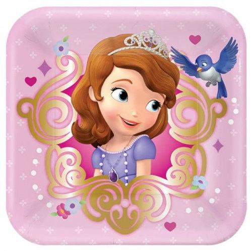 צלחות מרובעות הנסיכה סופיה