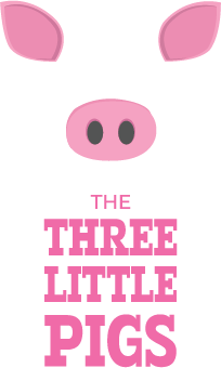 three little pigs logo