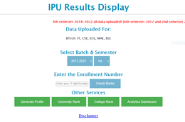 IPU Result Website