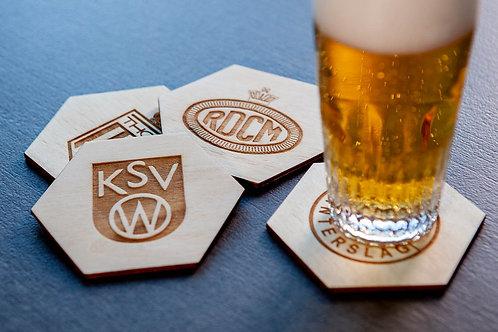 Vergane glorie - houten bierviltjes