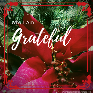 Why I am grateful, My Marvelous Journey