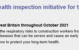 HSE respiratory health inspection initiative for the construction sector