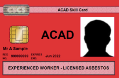 New Collaboration in the Asbestos Industry – FAAM and ACAD Announce New Skill Card for the Asbestos