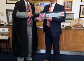 Clive Johnson awarded 'Freedom of the City of London'