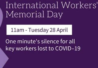 International Workers' Memorial Day 2020 - 28 April