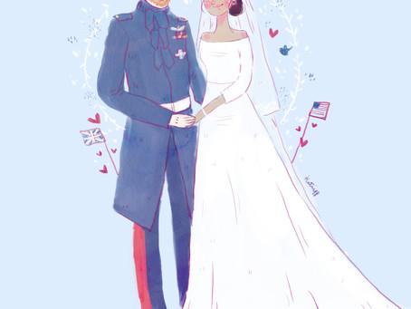 A Royal Wedding Illustration