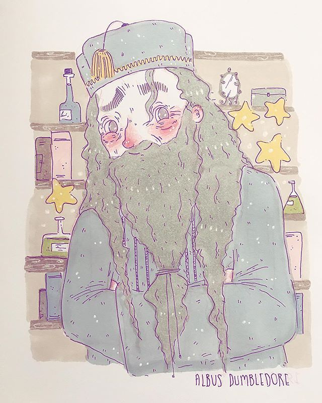 Parental Guardian was Day 6 of #potterweekprompts - obviously it has to be dumbledore! - Excuse the poor quality! It's literally a photo of_