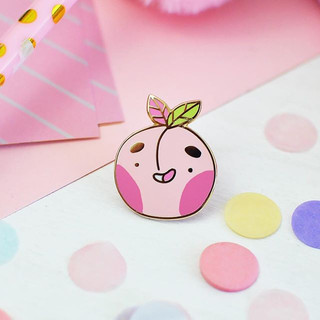 This is a little reminder to myself_ Life is Peachy! 🍑 and this lil dude is cheering me up! _Today I received my first review from a local b