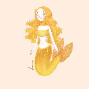 A little late on my #mermay challenge but today I was Honey 🍯 I wasn't happy with how this one came out but she's here anyway 🙈🙌🏻🙌🏻✨