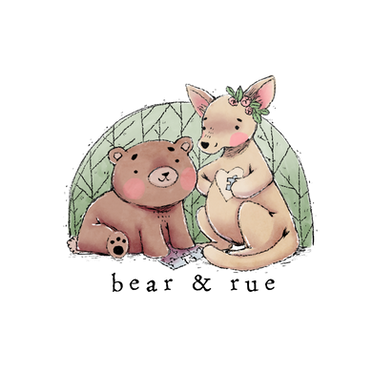 Bear & Rue Logo & Character Design - 2018