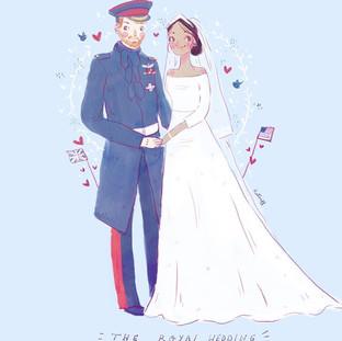 The Royal Wedding Illustration
