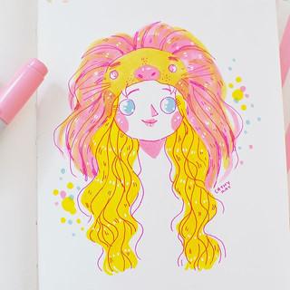 Little Luna Lovegood Doodle ✨ it's been so long since I did a little bit of Harry Potter fan art! Let's have a bit of fun! Luna lovegood is_