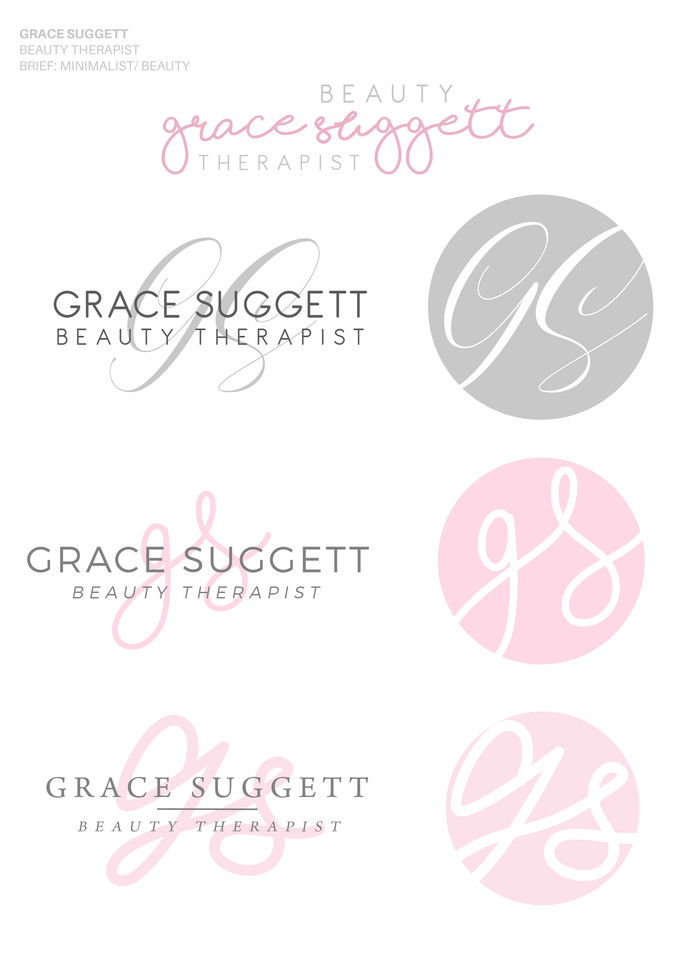 Grace Suggett Beauty Logo Concepts