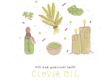 Oils & medicinal Spells - Healing Clover Oil - Inktober Short Stories