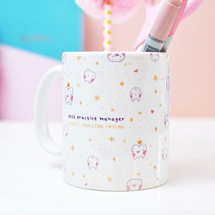 "Heheh did you know I use my misprinted mugs as pen pots 😂🙈 I love them! - this was one of my Personalised ""sweet tooth"" mugs gifted to a den"