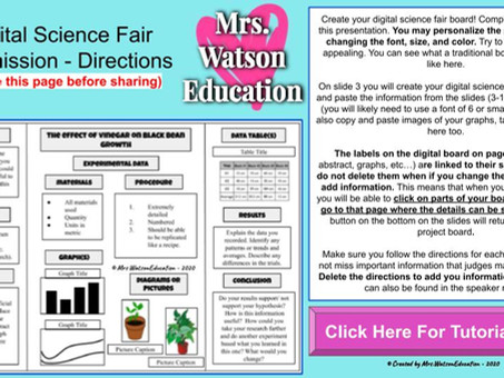 A Digital Science Fair - Stepping away from the tri-fold backboards!