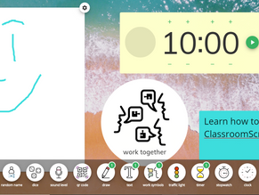 """Using ClassroomScreens.com for Classroom Management and Creating an """"Interactive"""" Whiteboard""""."""
