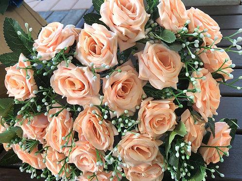 Orange Peach roses for sale $1/rose