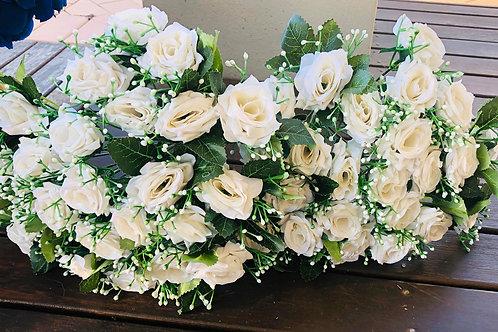 White roses for sale $1/rose