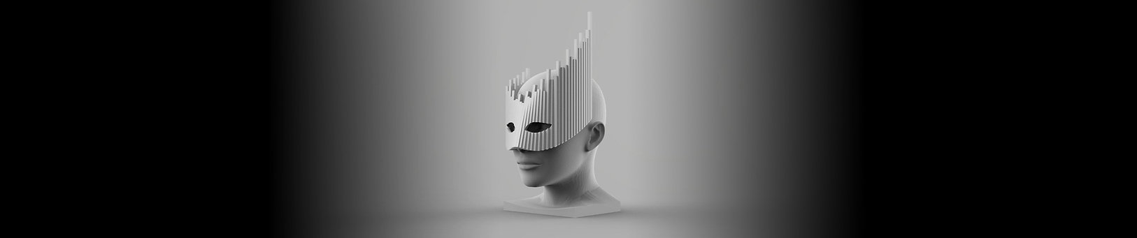 Soundcloud mask white with head centre b