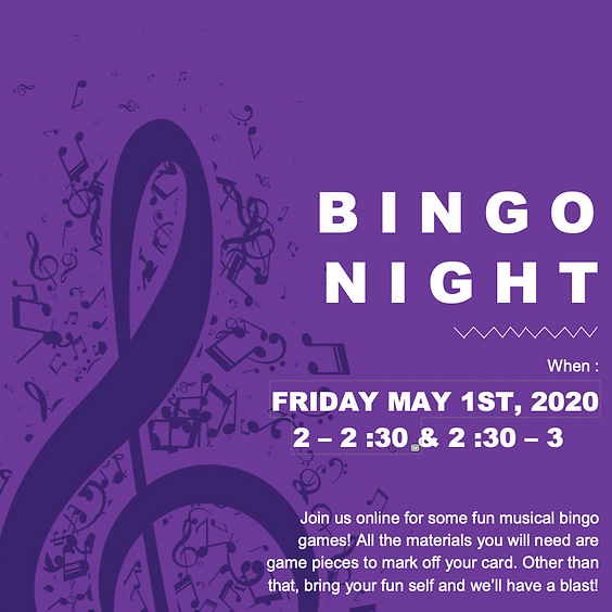 Games Night! (Music Bingo)