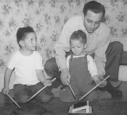 Steve, Eddie, & Kendall Gadd 1949