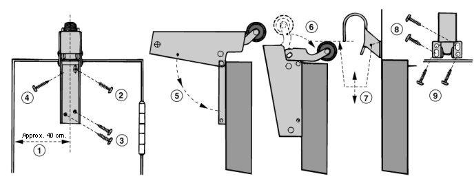 Door Damper DD16 Fitting Position