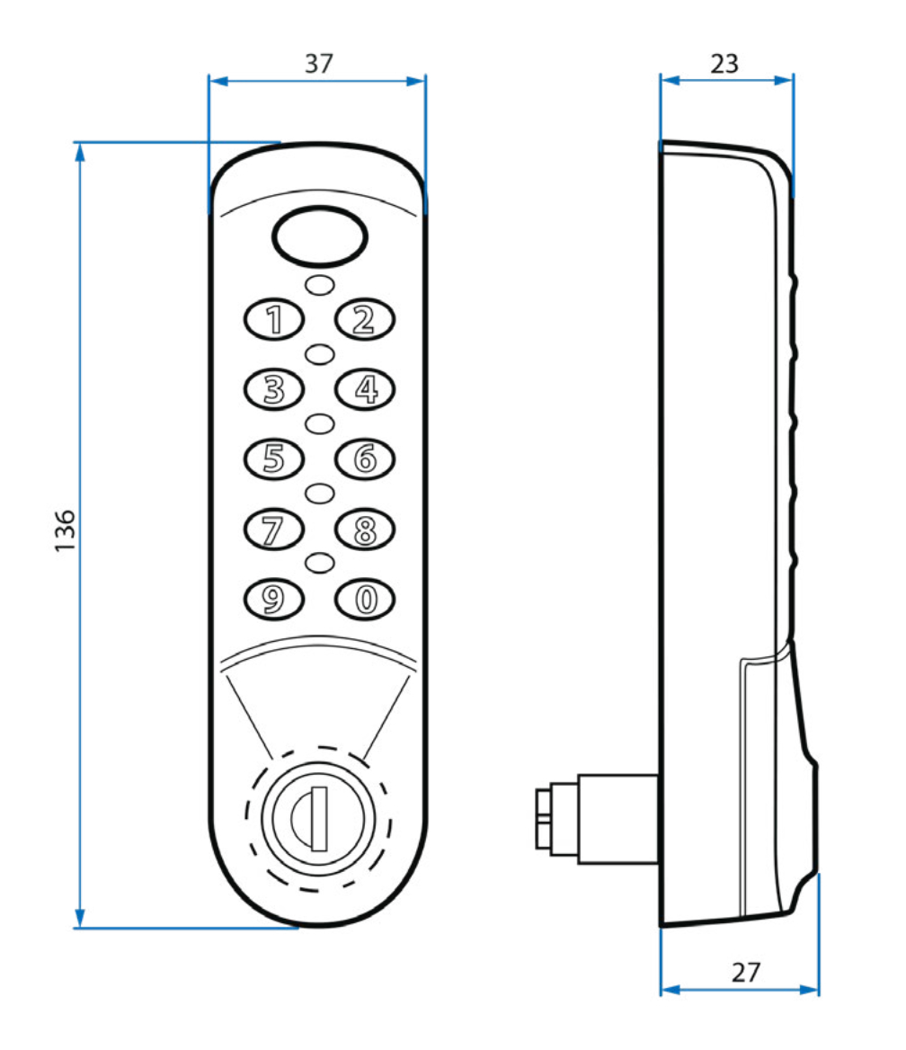 3780 Lockey Lock Dimensions