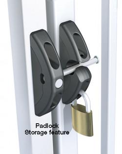 T Latch Padlock Storage