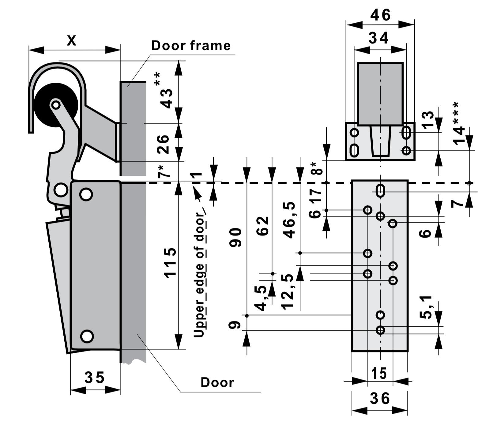 DD10 Damper Dimensions