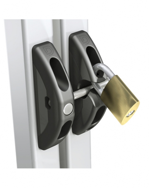 T Latch Locked with Padlock