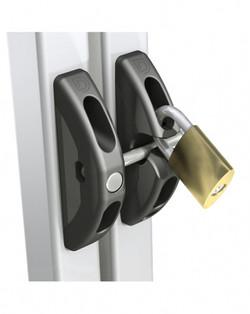 T Latch Locked with Padlock
