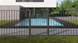Tiger Closer Pool Gate