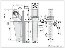 DD16 Door Damper Dimensions