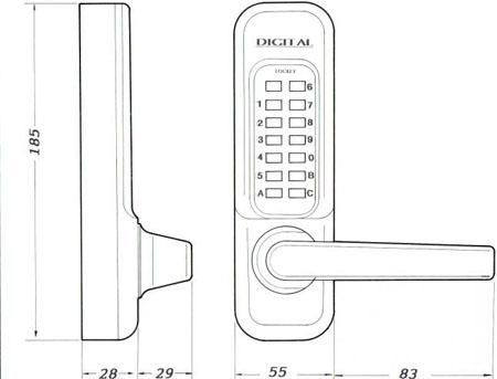 Lockey 1150 Dimensions