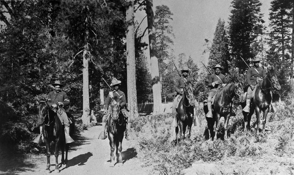 The Buffalo Soldiers patrolling in Yosemite
