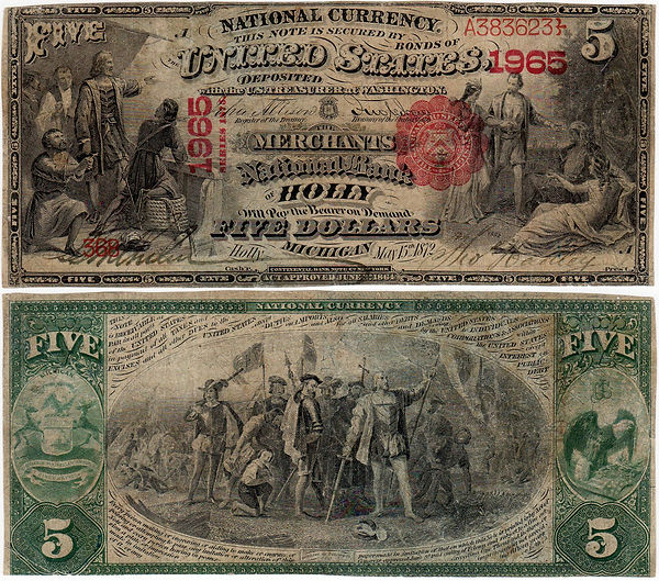 $5Lg_#1965_368 Grinnell 6-16-45 Lot 1891