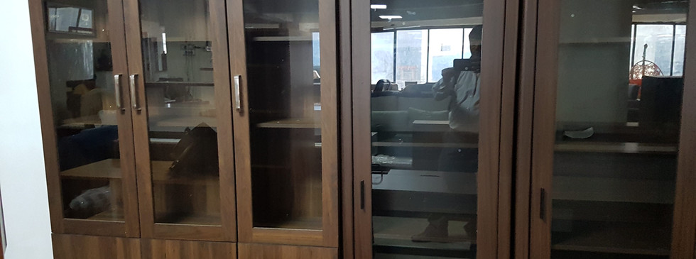 Wooden Cabinet with Glass